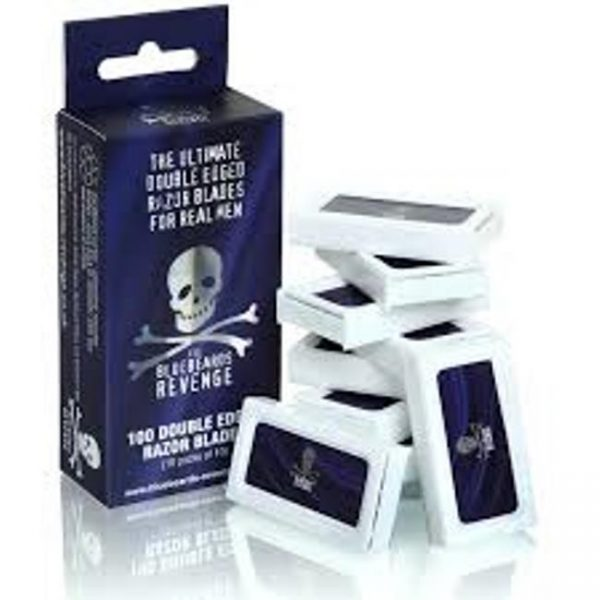 100 BlueBeards Revenge Double Edge Razor Blades - ( 10 x 10 Packs )