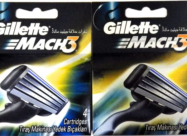 Gillette Mach 3 Manual Razor Blades - 8 pack