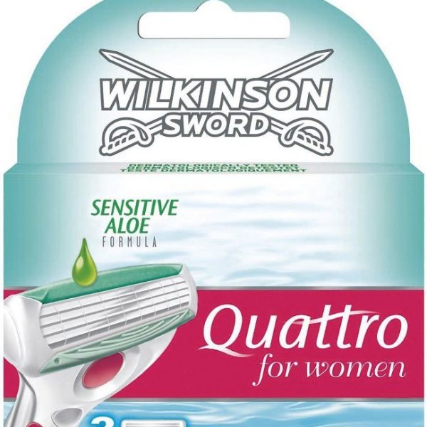 Quattro for Women Sensitive Replacement Blades - 3 Pack