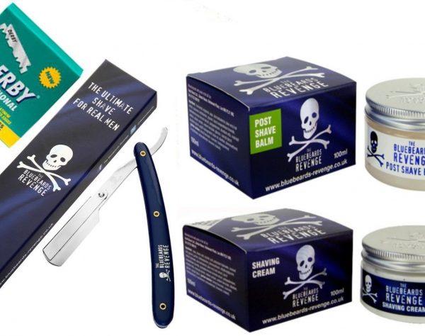 Bluebeards Revenge Shavette Razor, Shaving Balm, Shaving Cream and 100 Blades