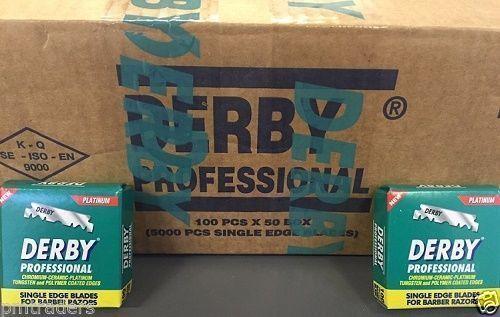 5000 Derby Professional Single Edge Razor Blades For Straight Razors Barber Bulk Buy