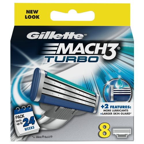 Gillette Mach3 Turbo Refill Razor Blades - 8 Pack