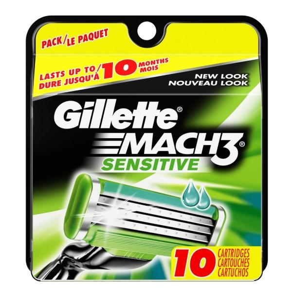Gillette MACH3 Power Sensitive Razor Blades - Pack of 10 Refills