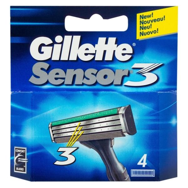 Gillette Sensor3 Razor Blades 4-pack