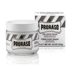 Proraso Anti Irritation Sensitive Pre and Post Shave Cream (100 ml) White Tub