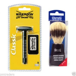 Wilkinson Sword Classic Double Edge Safety Razor And Shaving Brush Set